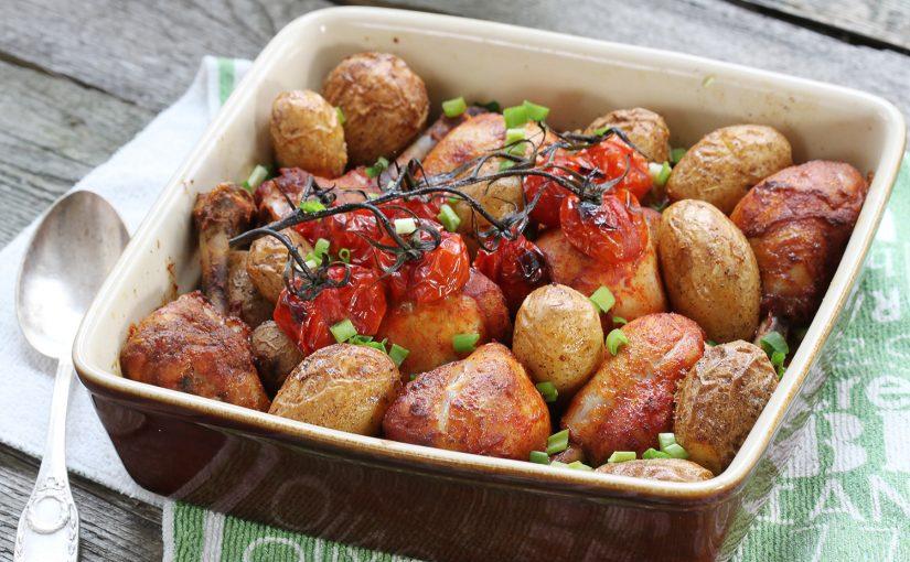 Pałki kurczaka pieczone z ziemniakami