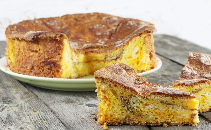 Ciasto drożdżowe z dynią i cynamonem