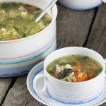 Prosta zupa z czterech warzyw